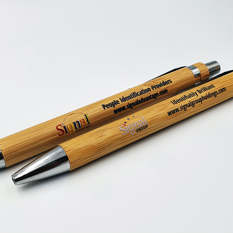 Bamboo Pen with Full Colour Logo Print