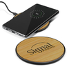 Bamboo Wireless Charger with Logo Print