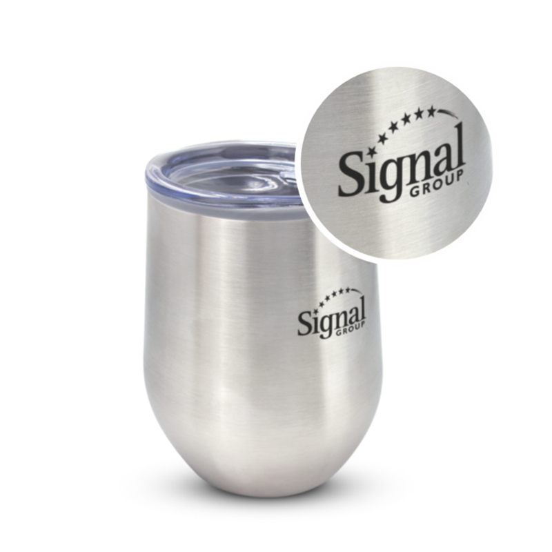 Chai 350m Stainless Steel Cup with Custom Laser Engraving