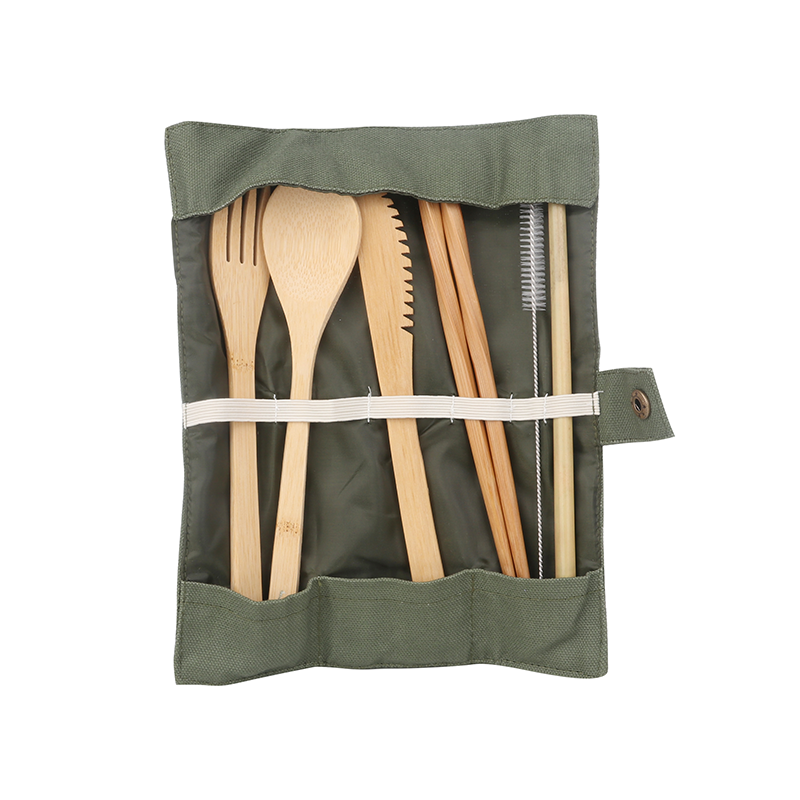 Bamboo Cutlery Set with Logo Print