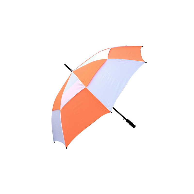 Checker Golf Umbrella with Logo Print