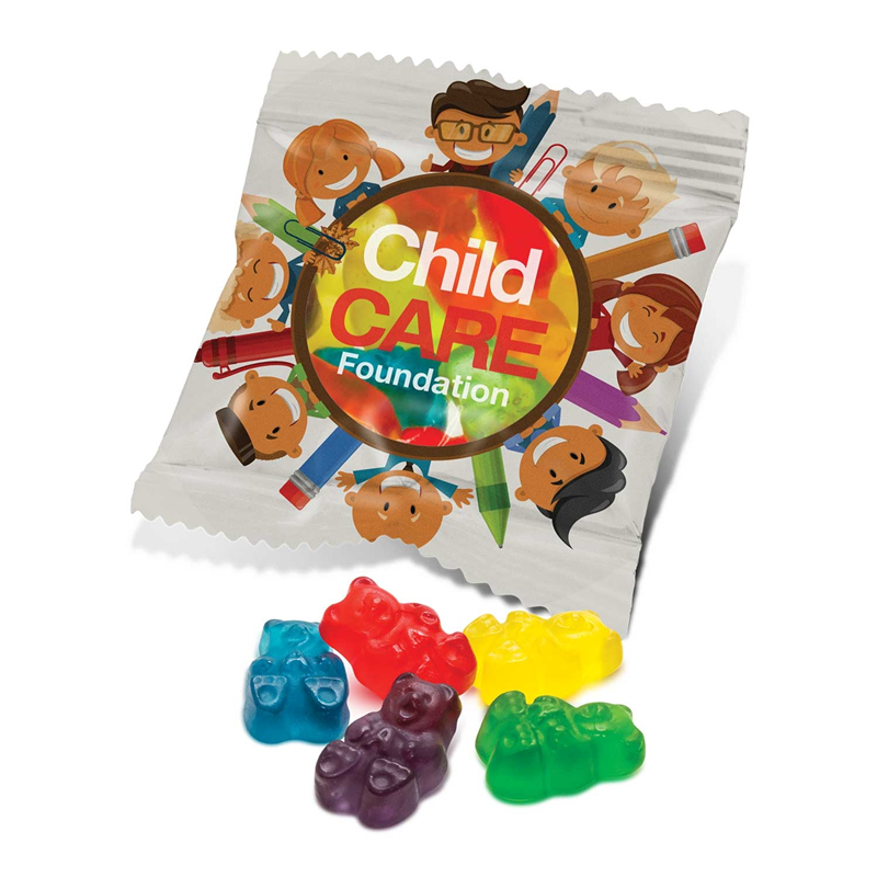 Assorted Gummy Bears in Branded Packet