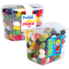 Assorted Jelly Beans in Clear Box with Logo Sticker