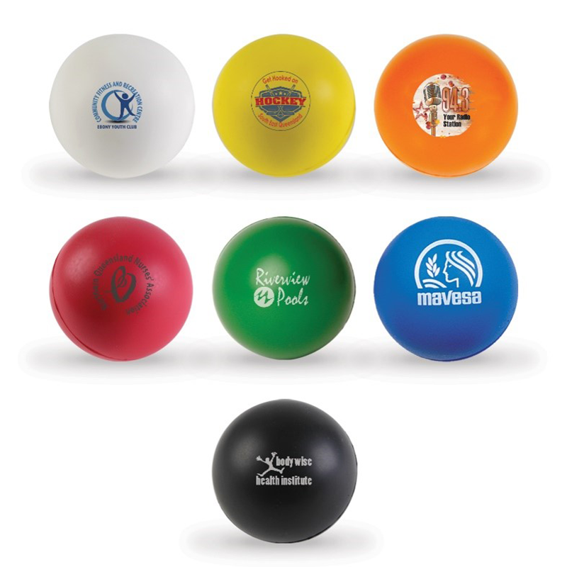 Round Stress Ball with Logo Print