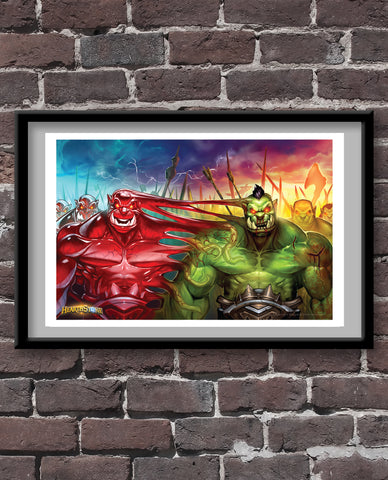 Blood Warriors Official Hearthstone Print
