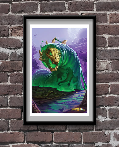 Gluttonous Ooze Shaping Official Hearthstone Print
