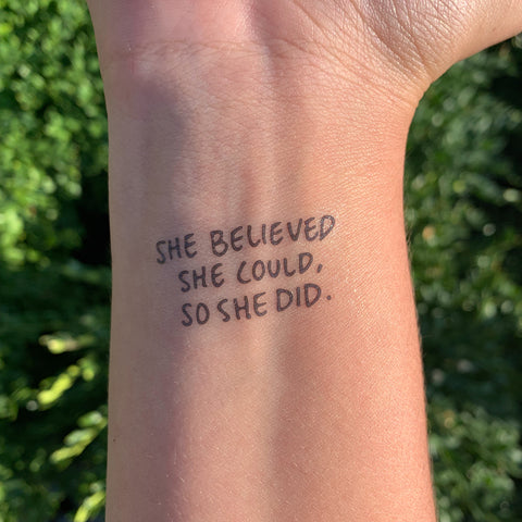 SHE BELIEVED SHE COULD, SO SHE DID.-0