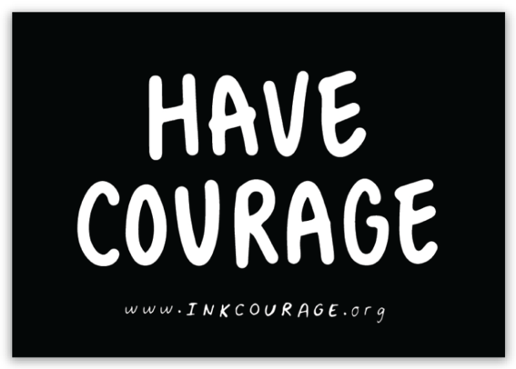HAVE COURAGE Sticker-2