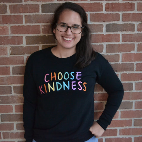CHOOSE KINDNESS - Large Embroidered Sweatshirt-0