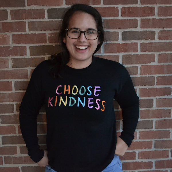 CHOOSE KINDNESS - Large Embroidered Sweatshirt-1