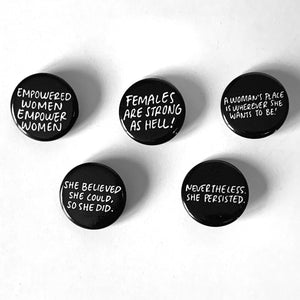 EMPOWERED WOMEN Mini Button 5-Pack-0