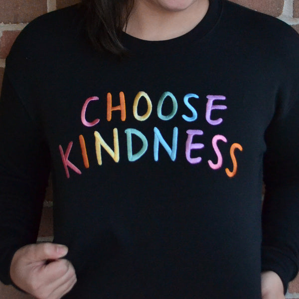 CHOOSE KINDNESS - Large Embroidered Sweatshirt-3
