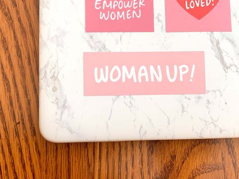 WOMAN UP! - Stickers with a Cause-0