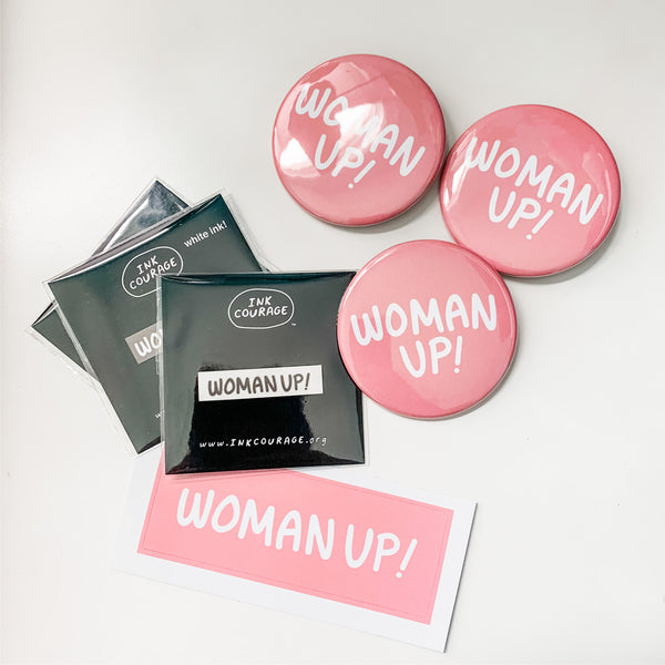 WOMAN UP! - Stickers with a Cause-3
