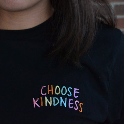 CHOOSE KINDNESS - Rainbow Pocket Long-Sleeves-0