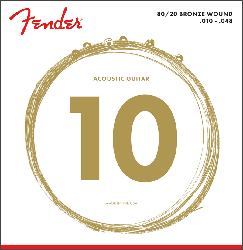Fender 80/20 Bronze wound Acoustic Strings 10-48