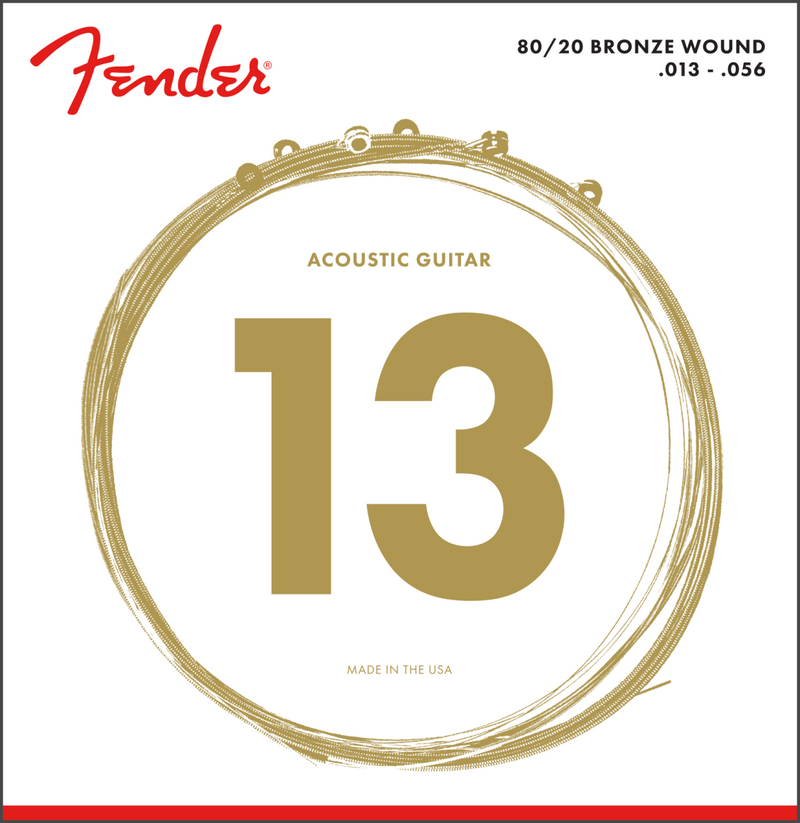 Fender 80/20 Bronze wound Acoustic Strings 13-56