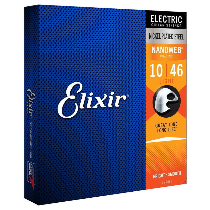 Elixir Nanoweb Electric Guitar Strings: 12052 10-46