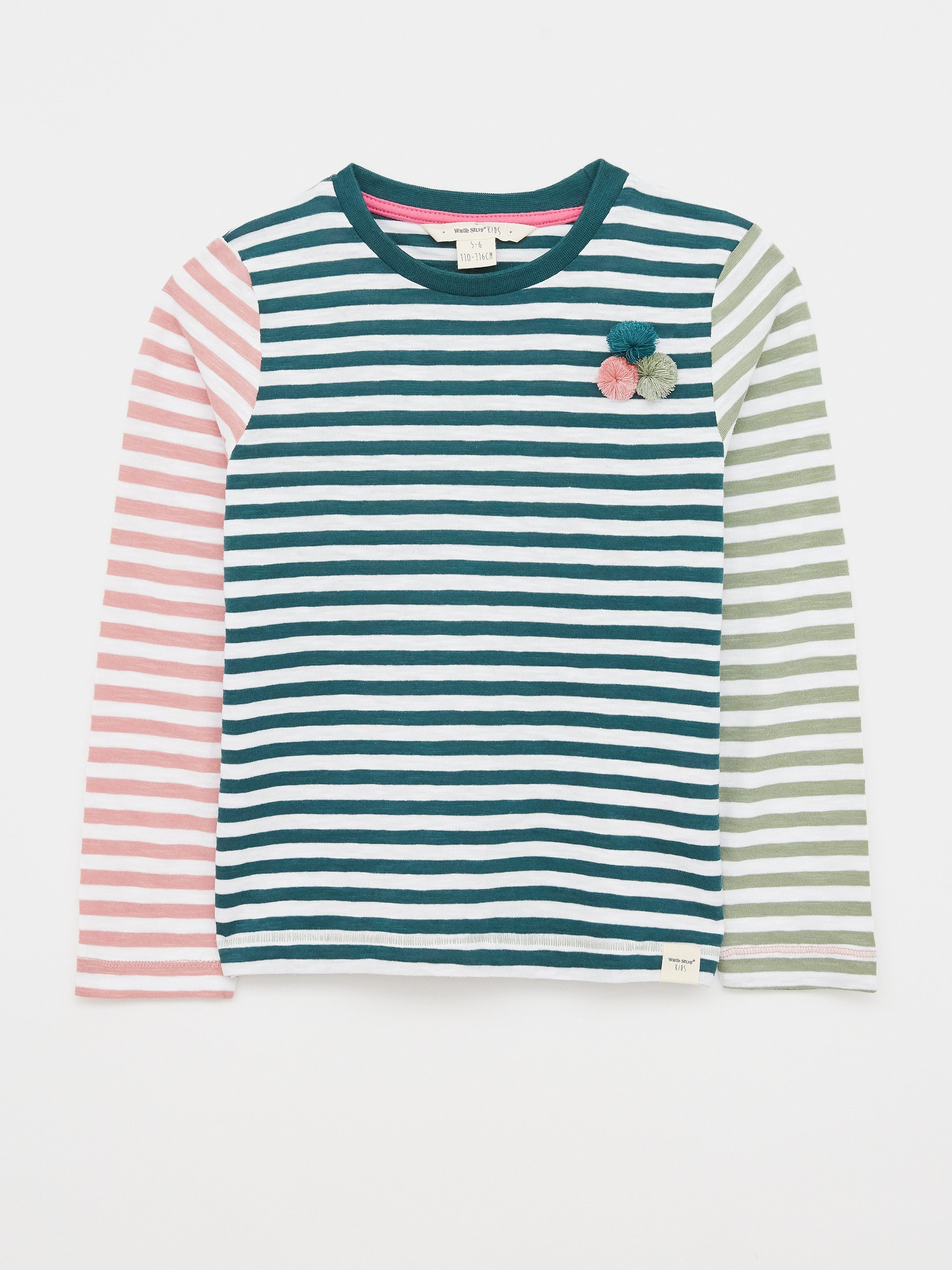 Molly Mixed Stripe Jersey Tee