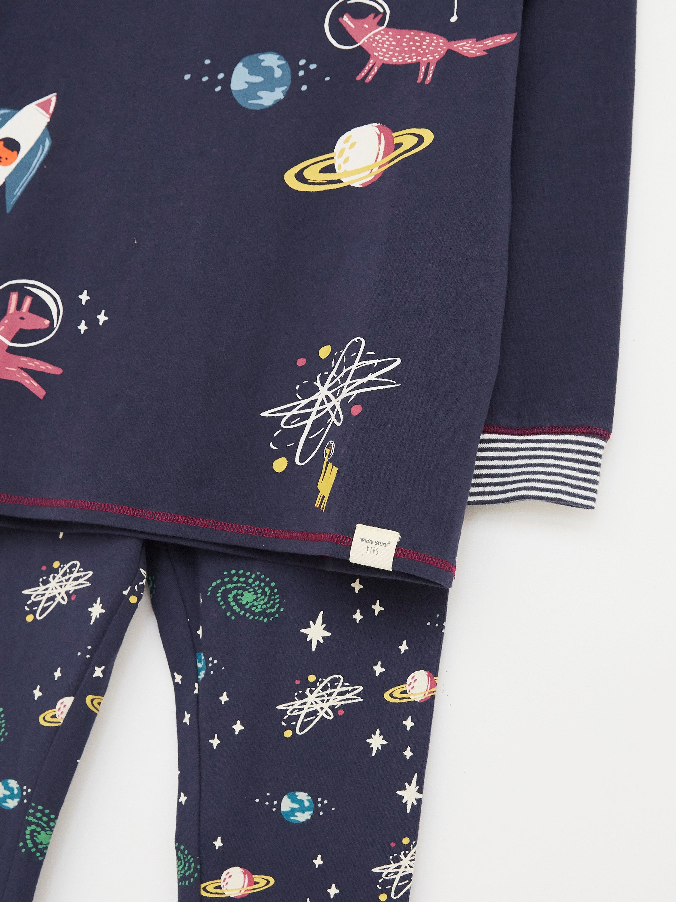 Find Me in Space Jersey PJ Set in Navy
