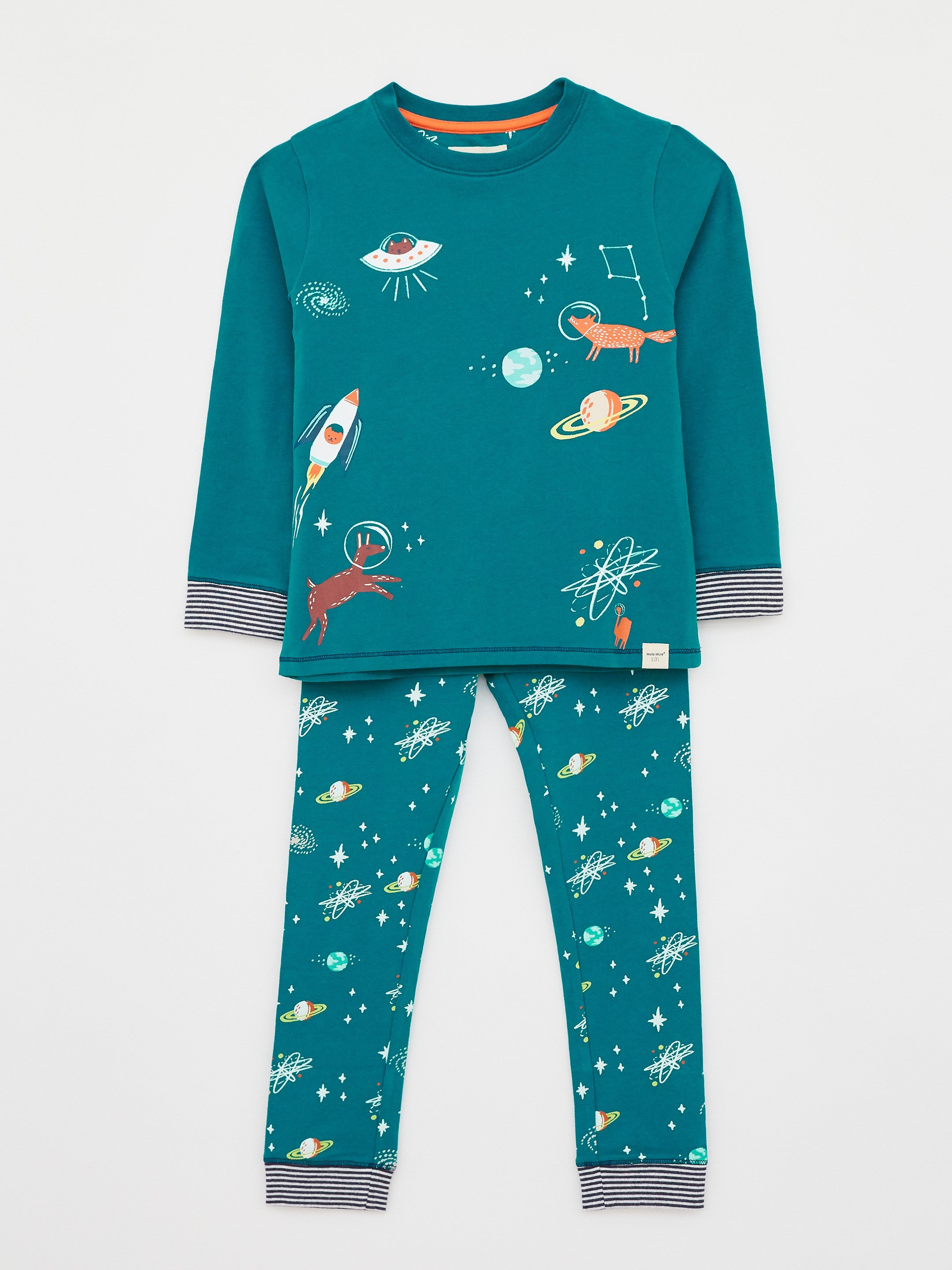 Find Me in Space Jersey PJ Set in Teal