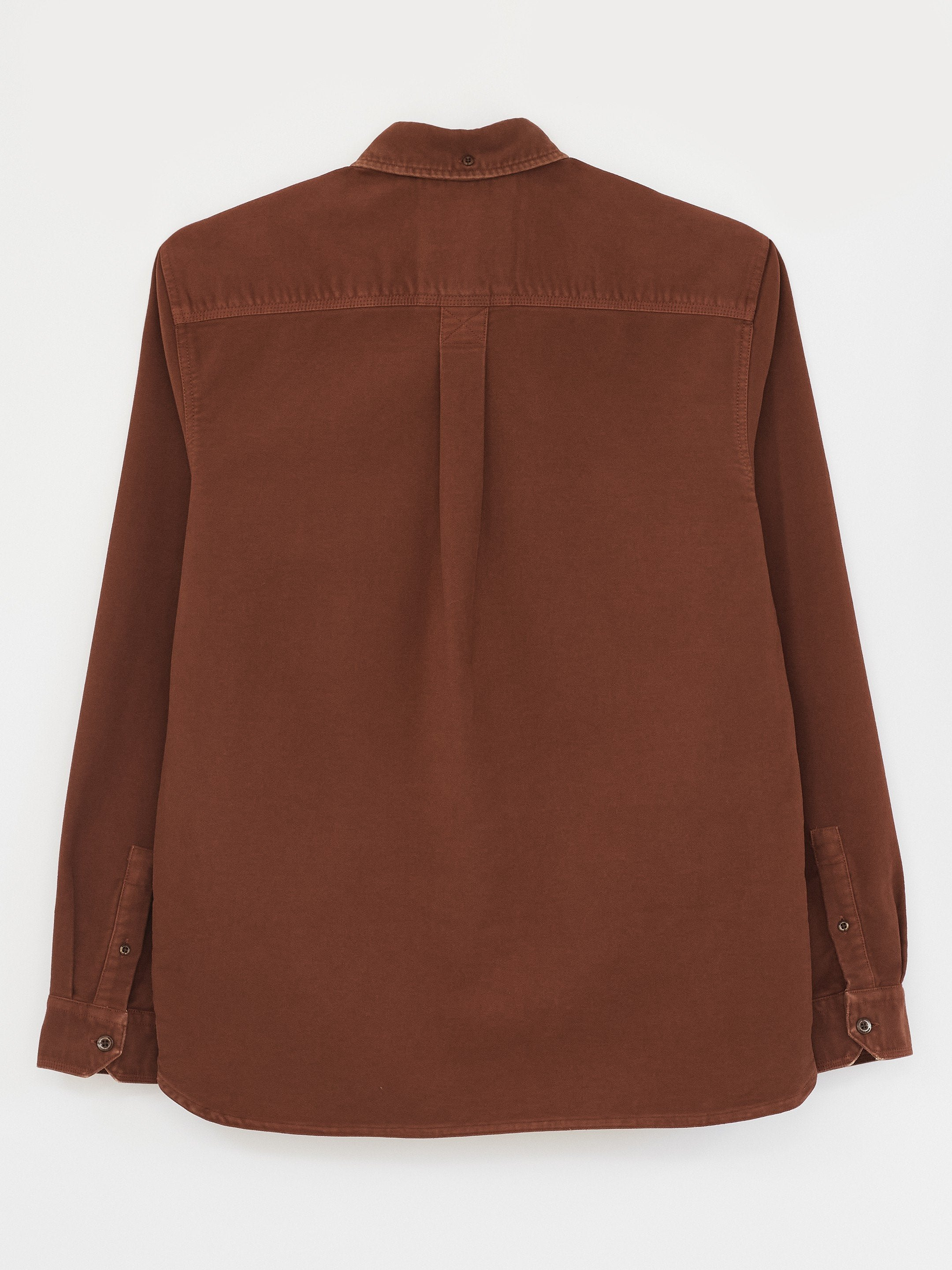 Brocken Moleskin Shirt in Dark Orange
