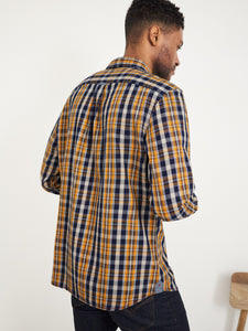 Ochre Check Shirt in Mid Yellow