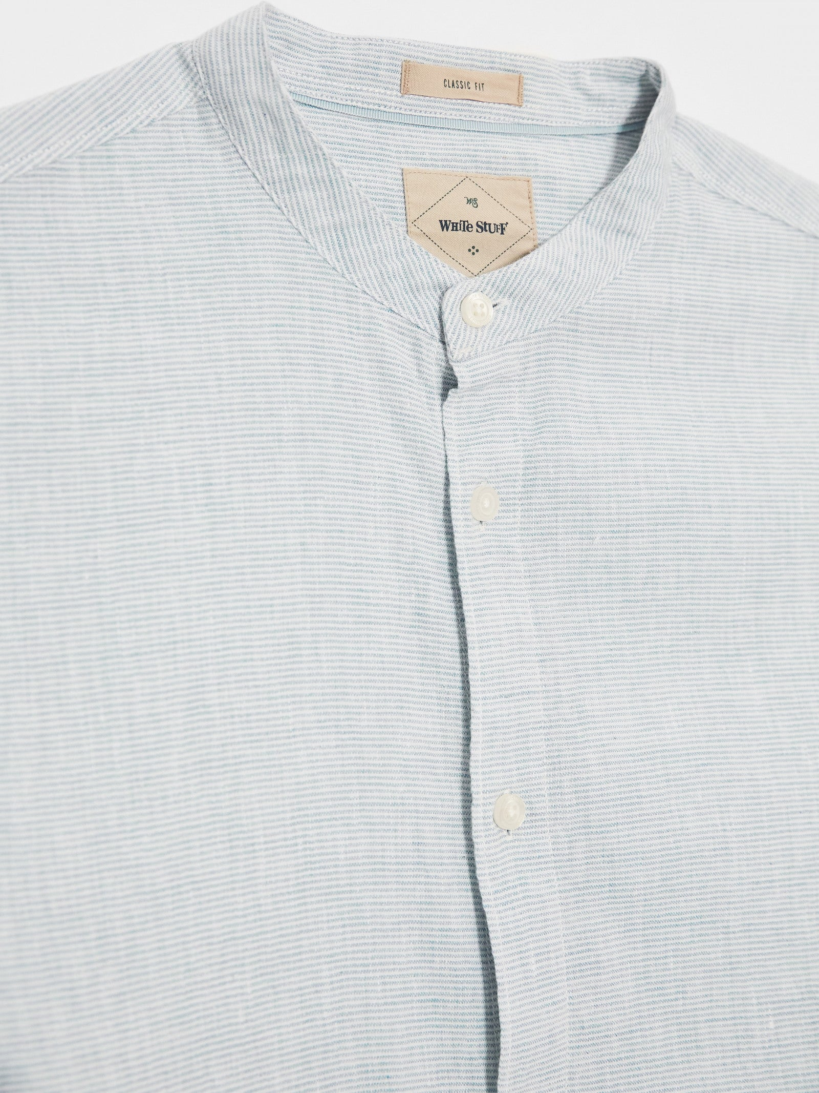 Spacedye Grandad Shirt in Light Blue