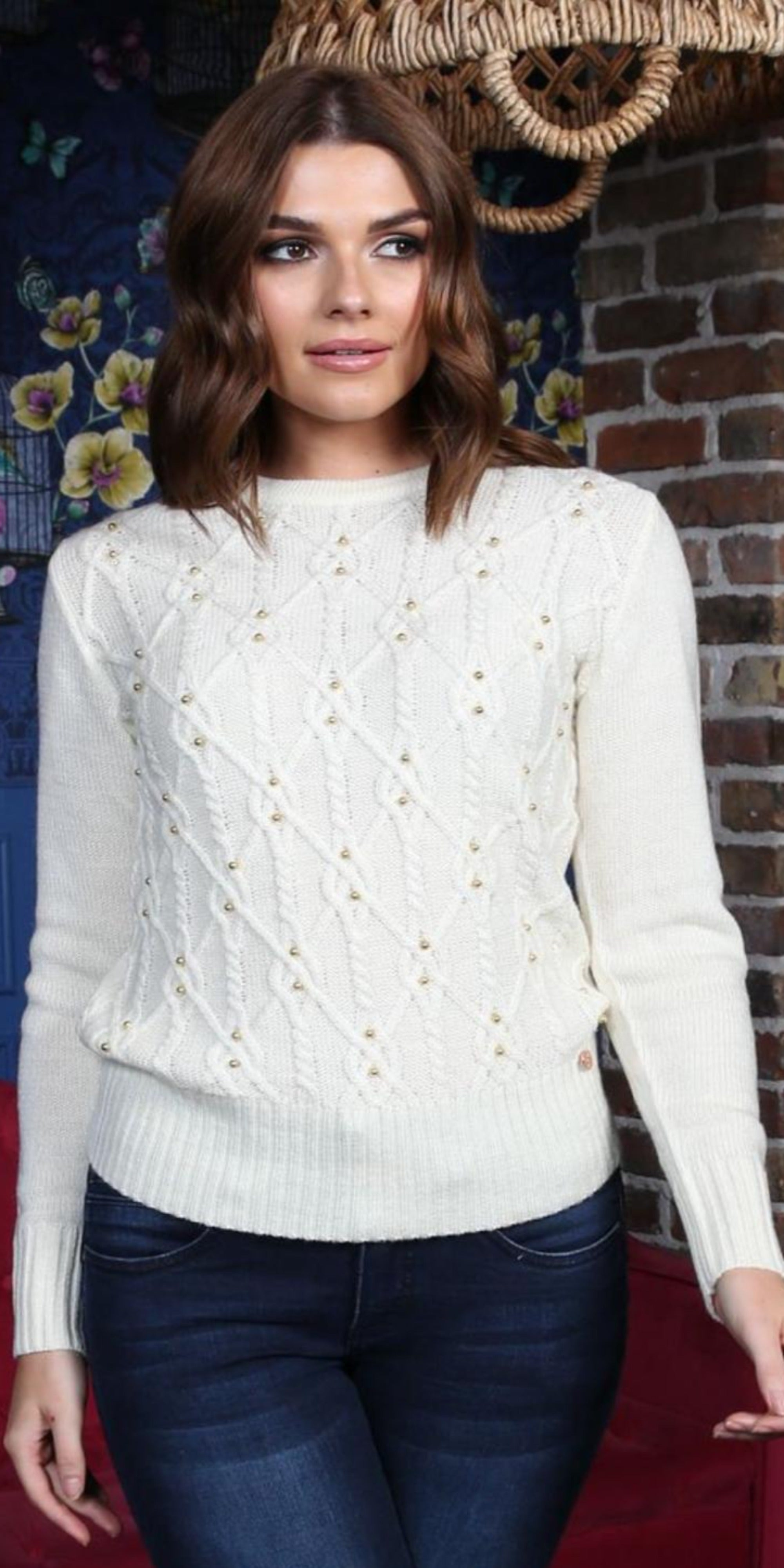Suzanne Jumper in Cream