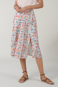 Midi Skirt in Poppy Print