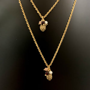 Pine Cone Gold Necklace