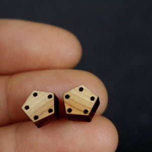 Pentagon Stud Earrings