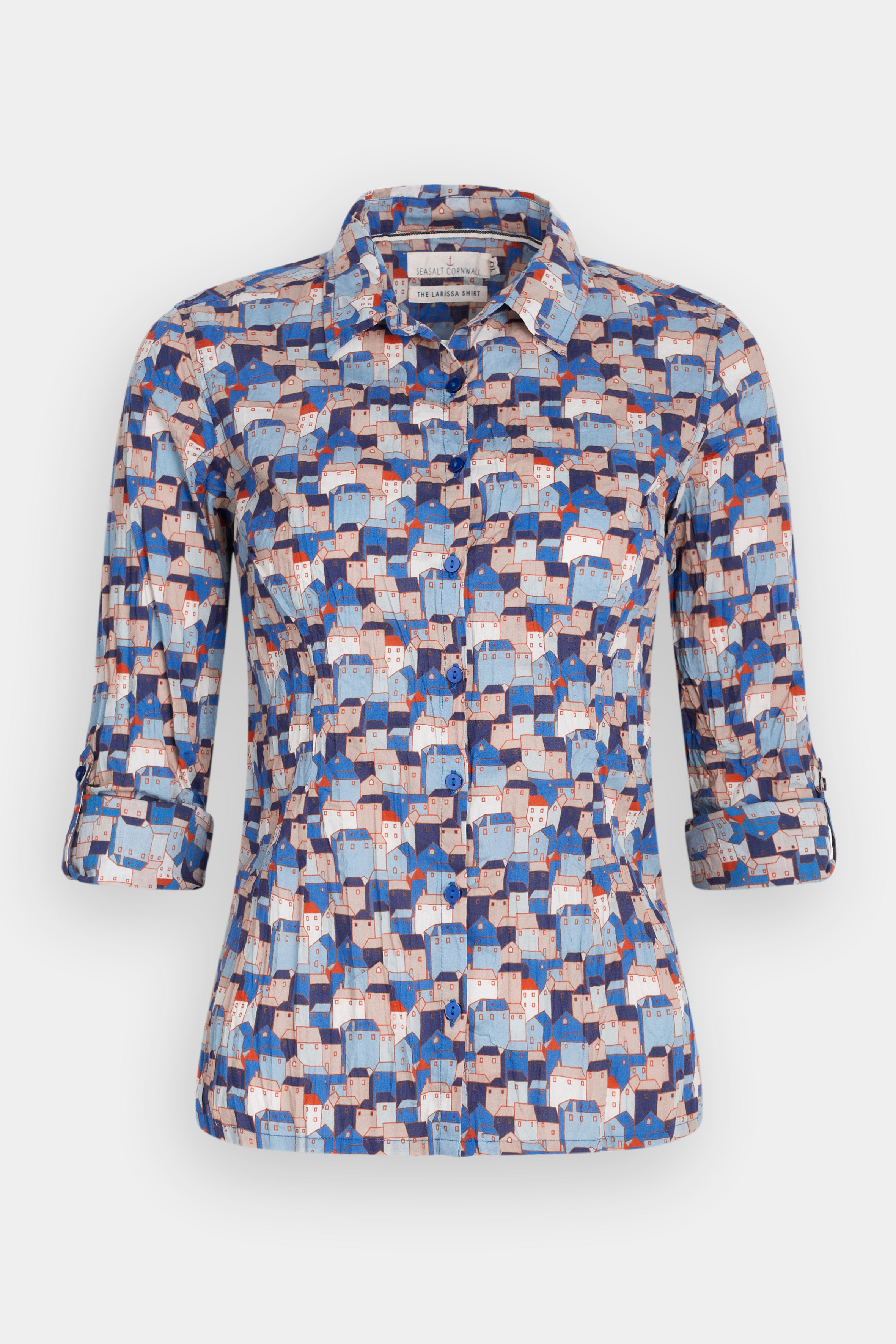 Larissa Shirt in Cornish Cottages Sailor