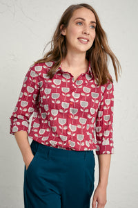 Larissa Shirt in Retro Tulip Beacon
