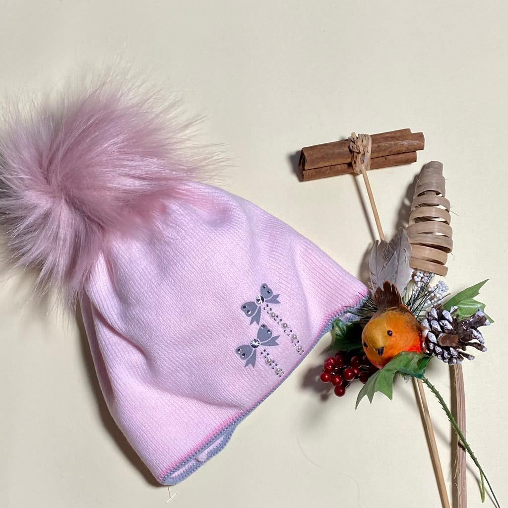 Kids Hat with Pom