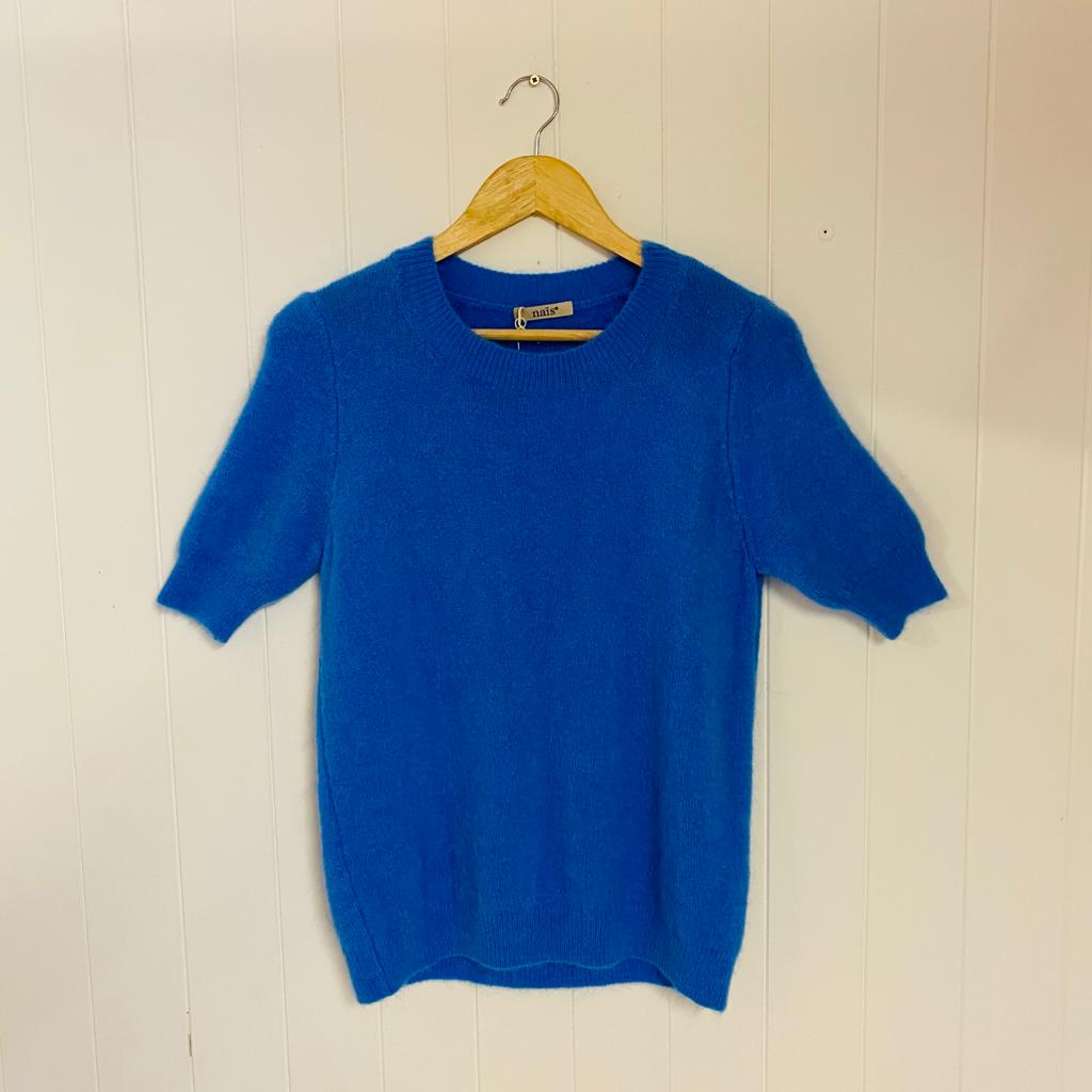 Round Neck Short Sleeve Nais Jumpers (Various Colours)