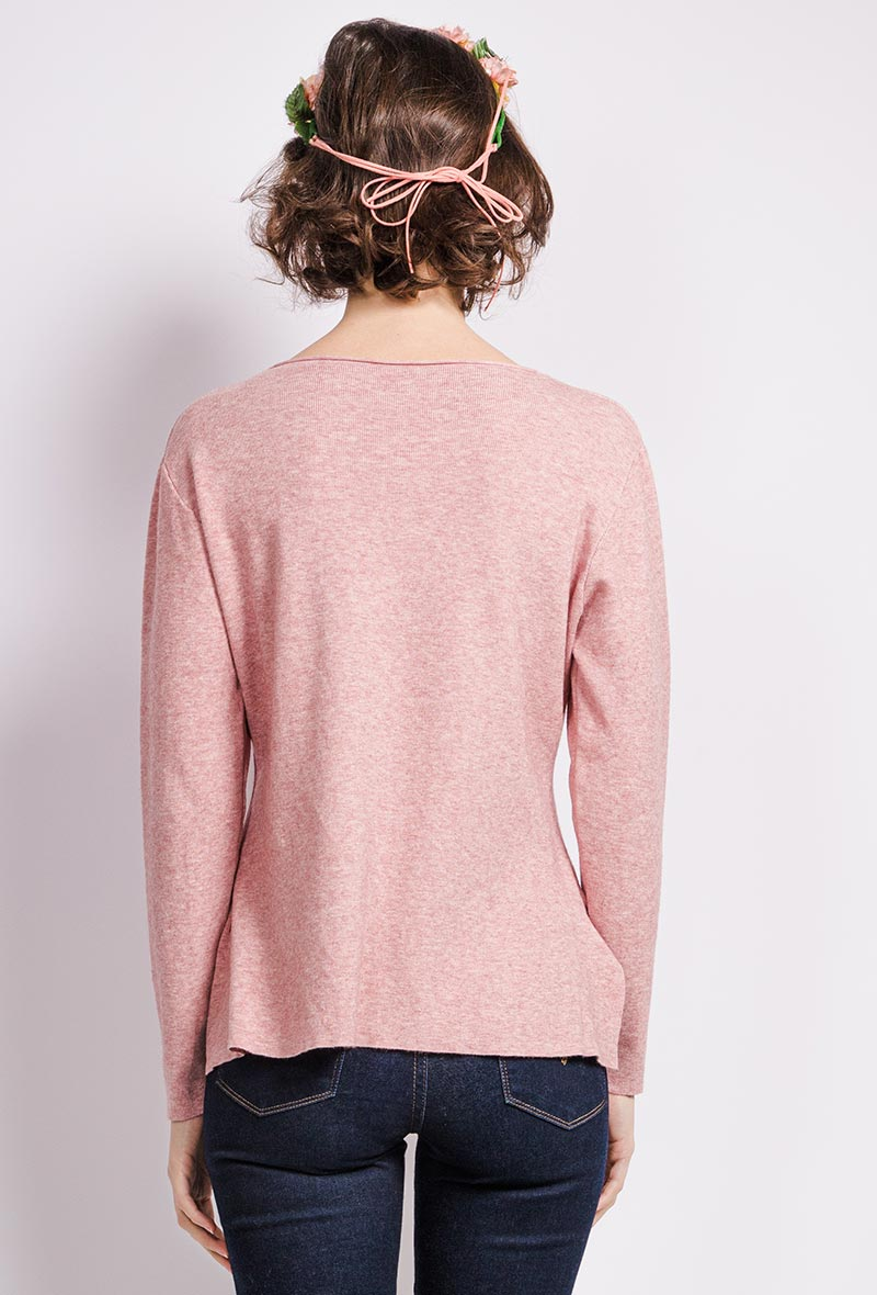 Round Neck Jumper with Buttons (Various Colours)