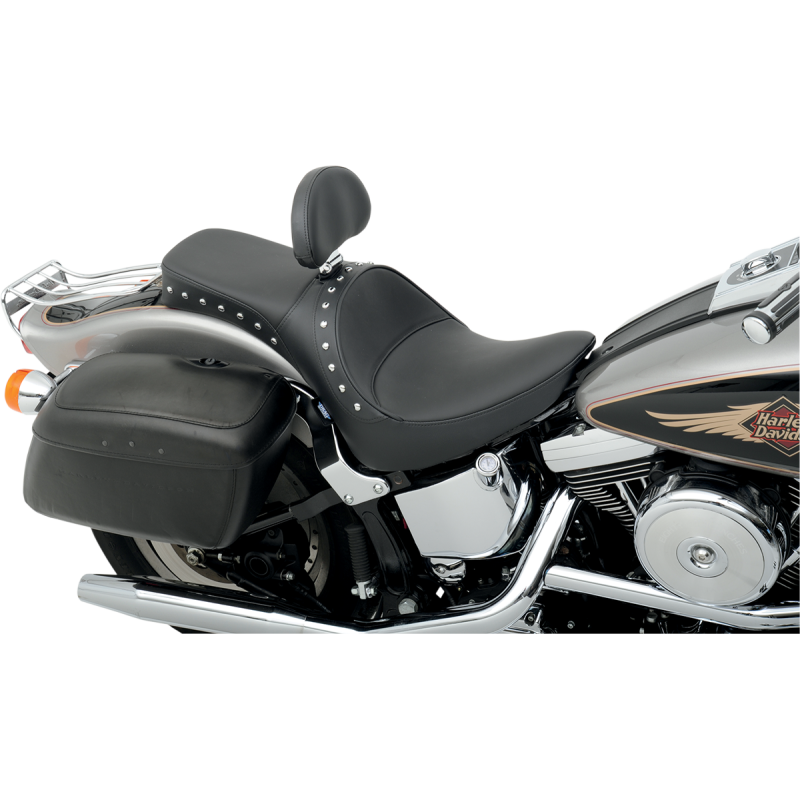 Drag Specialties Softail 2 Up Smooth w/Studs Seat