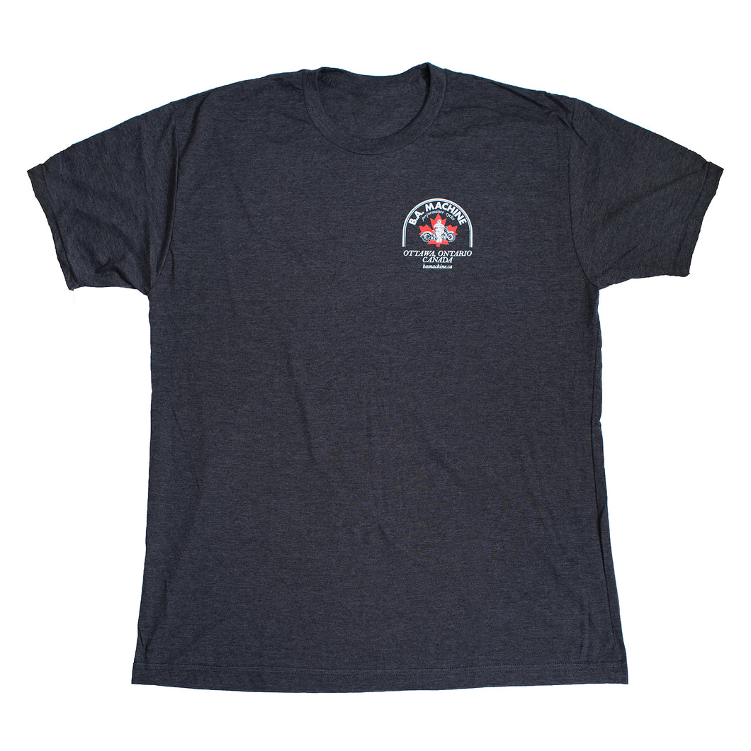 BA Machine Men's Dark Grey Logo T-Shirt