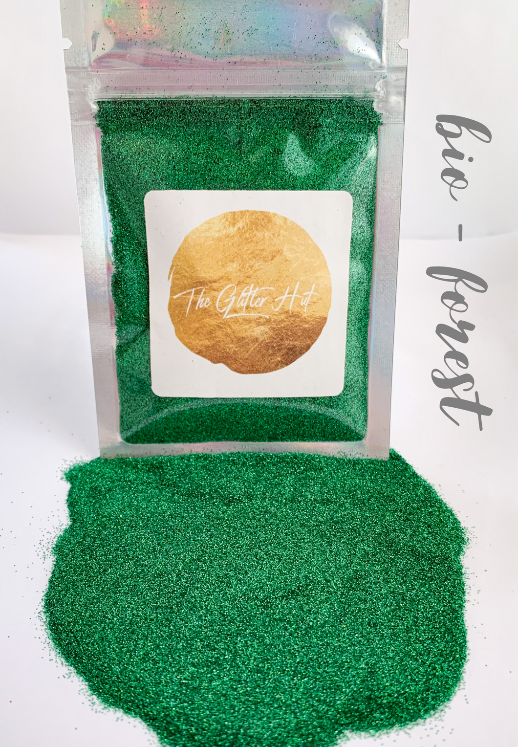Biodegradable Fine 10g Glitter Bag - Forest