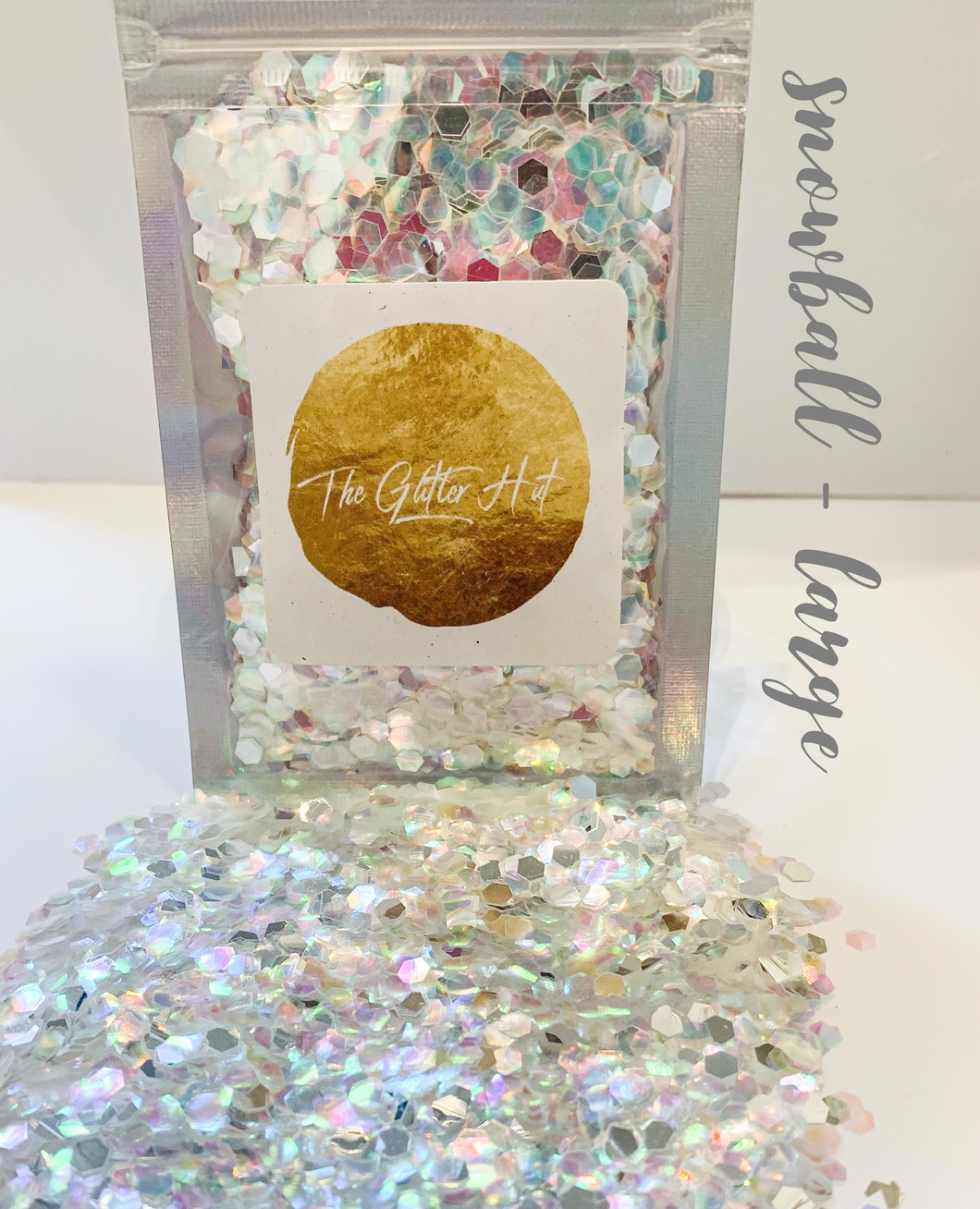 Large Chunky 10g Glitter Bag - Snowball
