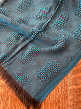 Load image into Gallery viewer, AU114 Kingfisher and grey textured patterned long scarf