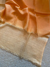 Load image into Gallery viewer, SP104 Light linen scarf in tones of tangerine and peach