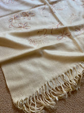 Load image into Gallery viewer, SP131 Pretty banana, oatmeal to cream embellished pashmina