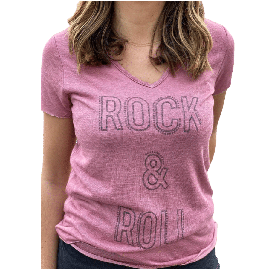 tee-shirt-rock-and-roll-rose