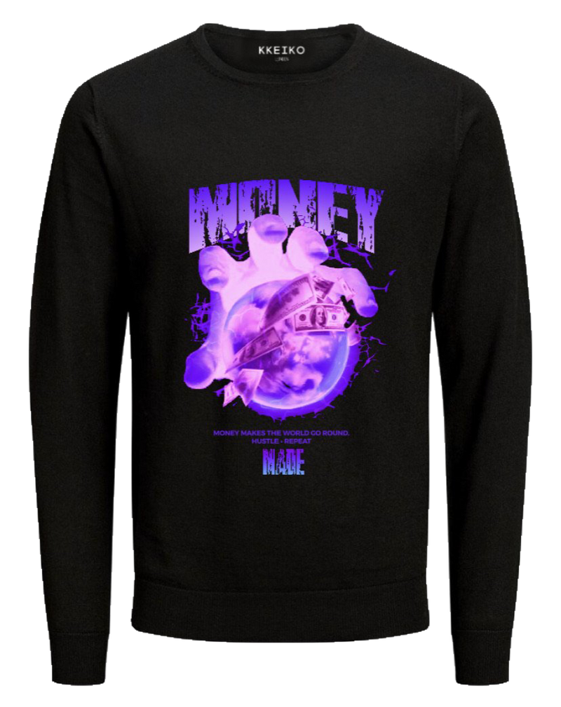 MONEY MADE SWEATSHIRT - BLACK