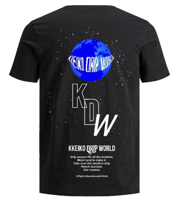 BLUE WORLD T-SHIRT - BLACK