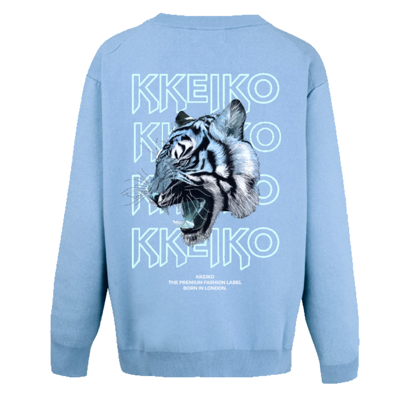 BLUE TIGER SWEATSHIRT - BABY BLUE