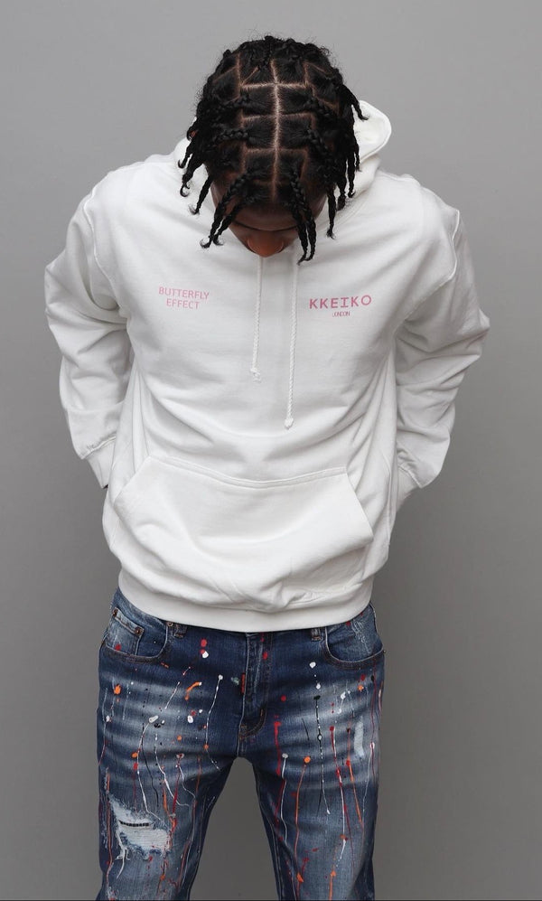 BUTTERFLY EFFECT HOODIE - WHITE