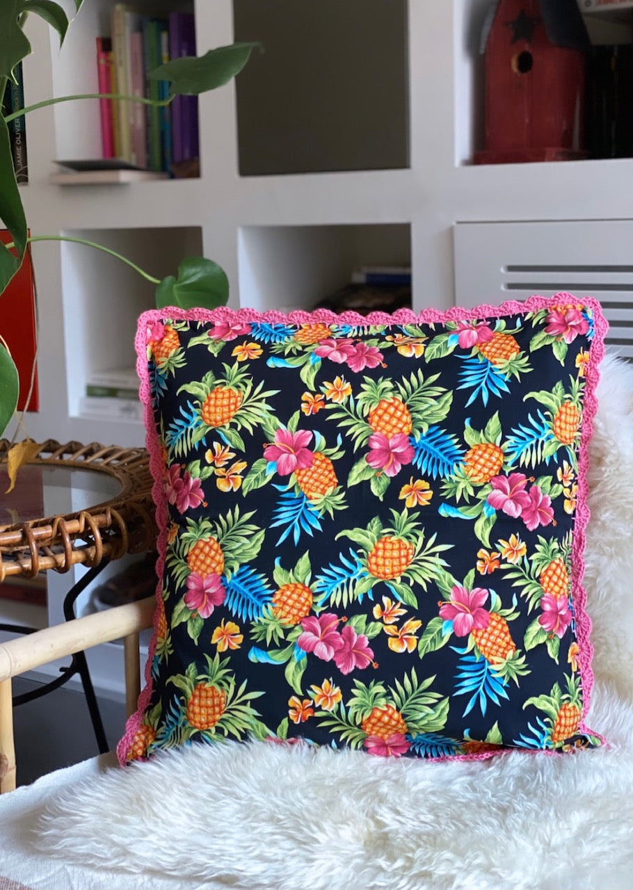 Coussin Ananas / Rose